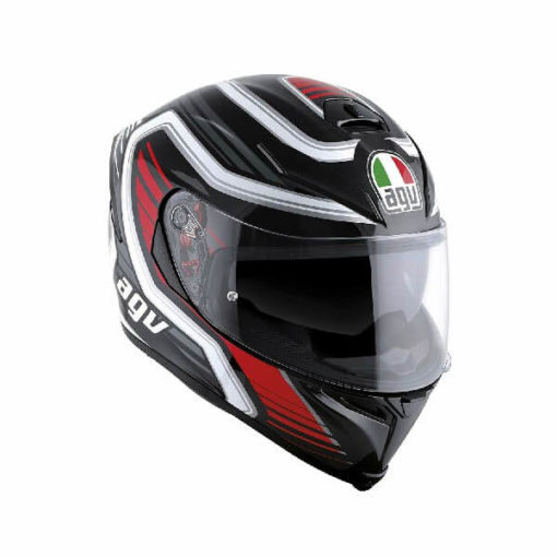 AGV K5 S Multi Plk Firerace Black Red Full Face Helmet
