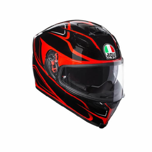 AGV K5 S Multi Plk Matt Magnitude Black Red Full Face Helmet