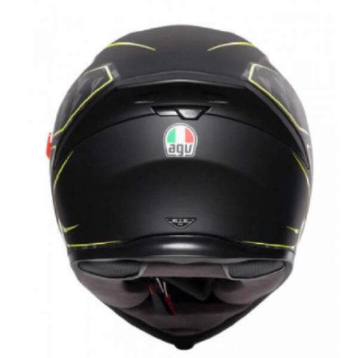 AGV K5 S Multi Plk Tornado Matt Black Fluorescent Yellow Full Face Helmet 1