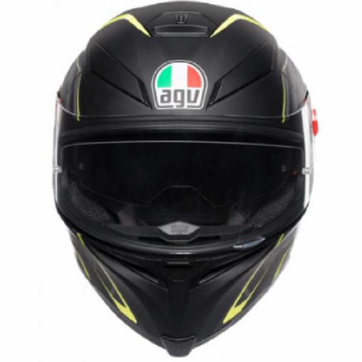 AGV K5 S Multi Plk Tornado Matt Black Fluorescent Yellow Full Face Helmet 2