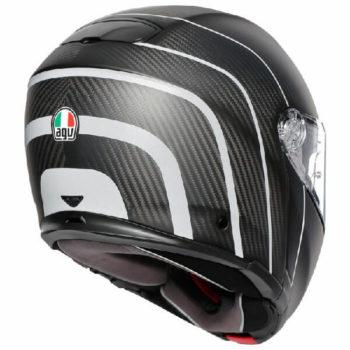 AGV Sportmodular Multi Plk Refractive Matt Carbon Silver Modular Helmet 1