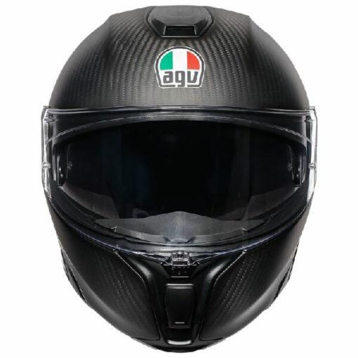 AGV Sportmodular Multi Plk Refractive Matt Carbon Silver Modular Helmet 2