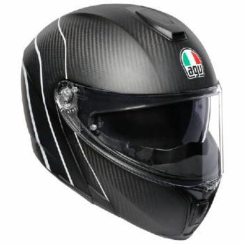 AGV Sportmodular Multi Plk Refractive Matt Carbon Silver Modular Helmet