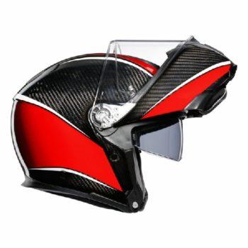 AGV Sportsmodular Gloss Black Red Carbon Aero Modular Helmet 2