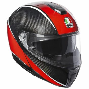 AGV Sportsmodular Gloss Black Red Carbon Aero Modular Helmet