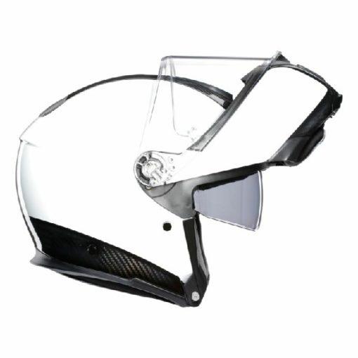 AGV Sportsmodular Gloss White Black Carbon Modular Helmet 2