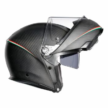 AGV Sportsmodular Matt Black Tricolore Carbon Italy Modular Helmet 2