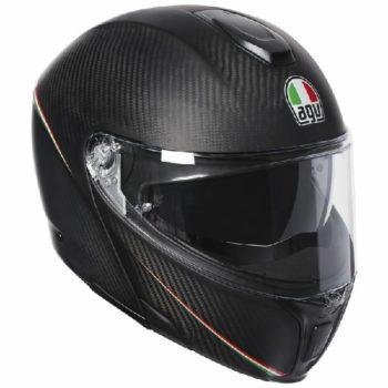 AGV Sportsmodular Matt Black Tricolore Carbon Italy Modular Helmet