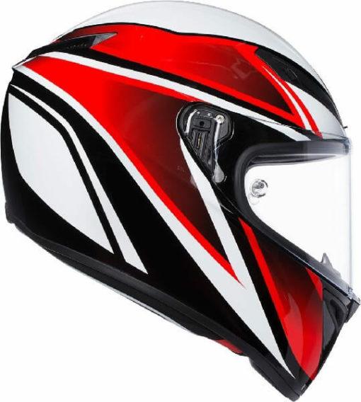 AGV Veloce S Multi Plk Gloss Feroce Black Red Full Face Helmet 1