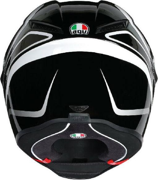 AGV Veloce S Multi Plk Matt Fulmine Gloss Black Grey Full Face Helmet 1