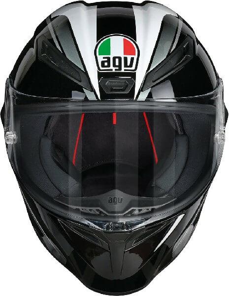 AGV Veloce S Multi Plk Matt Fulmine Gloss Black Grey Full Face Helmet 2
