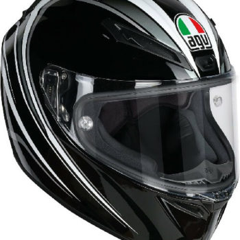 AGV Veloce S Multi Plk Matt Fulmine Gloss Black Grey Full Face Helmet