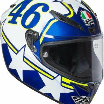 AGV Veloce S Top Plk Ranch Blue White Yellow Full Face Helmet