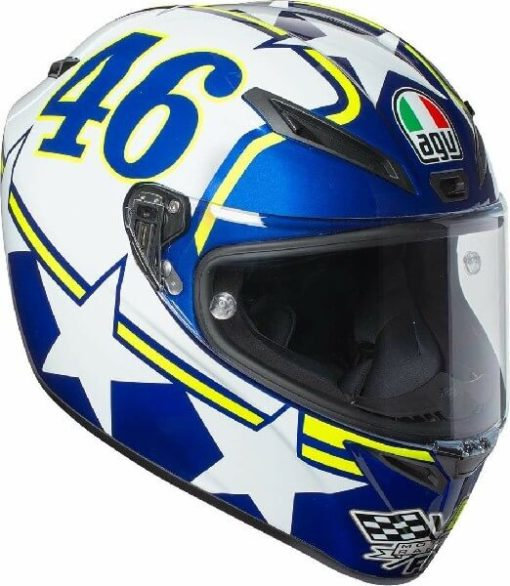 AGV Veloce S Top Plk Ranch Blue White Yellow Full Face Helmet