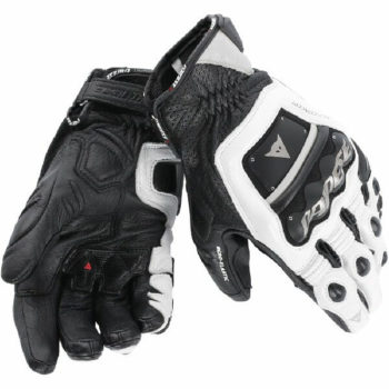 Dainese 4 Stroke Evo White Black Riding Gloves