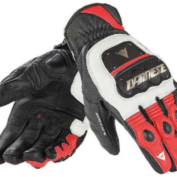 Dainese 4 Stroke Evo White Red Black Riding Gloves