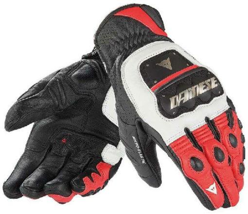 Dainese 4 Stroke Evo White Red Black Riding Gloves