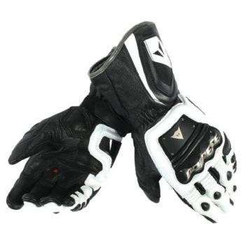 Dainese 4 Stroke Long White Black Riding Gloves