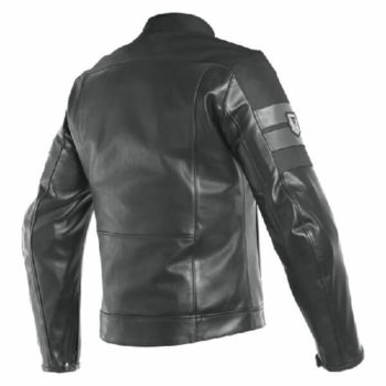 Dainese 8 Track Perforated Black Leather Riding Jacket 1
