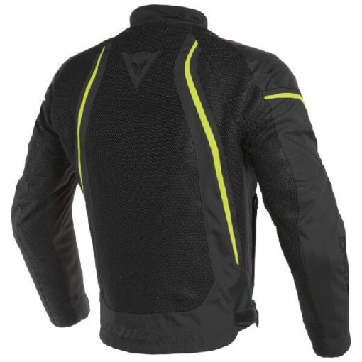 Dainese Air Crono 2 Textile Black Fluorescent Yellow Riding Jacket 1