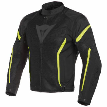 Dainese Air Crono 2 Textile Black Fluorescent Yellow Riding Jacket