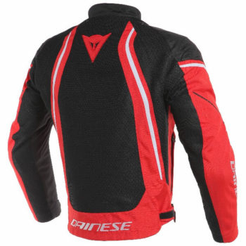 Dainese Air Crono 2 Textile Black Red White Riding Jacket 1