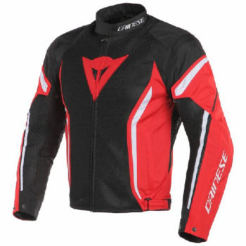 Dainese Air Crono 2 Textile Black Red White Riding Jacket