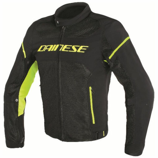 Dainese Air Frame D1 Textile Black Fluorescent Yellow Riding Jacket