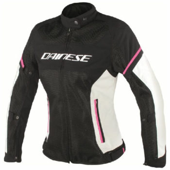 Dainese Air Frame D1 Textile Lady Black Grey Fluxia Riding Jacket