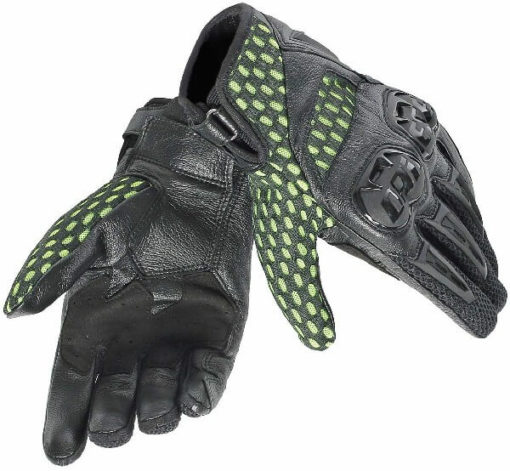 Dainese Air Hero Unisex Black Fluorescent Yellow Riding Gloves