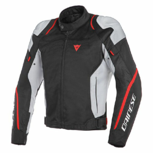 Dainese Air Master Lady Textile Black Grey Fluorescent Red Riding Jacket