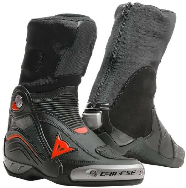 Dainese Axial D1 Black Fluorescent Red Riding Boots