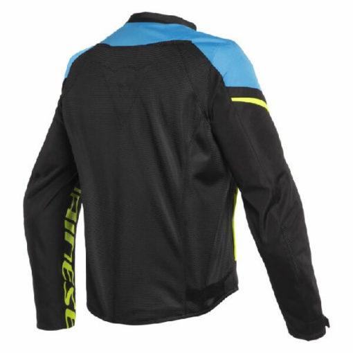 Dainese Bora Air Tex Black Blue Fluorescent Yellow Riding Jacket 1