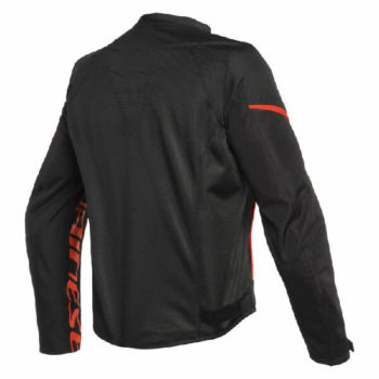 Dainese Bora Air Tex Black Fluorescent Red Riding Jacket 1