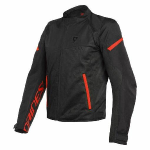 Dainese Bora Air Tex Black Fluorescent Red Riding Jacket