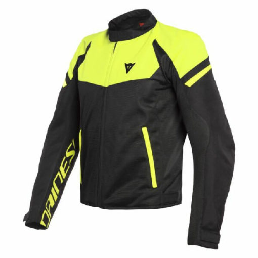 Dainese Bora Air Tex Black Fluorescent Yellow Riding Jacket