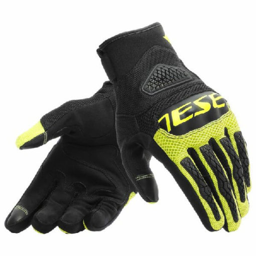 Dainese Bora Black Fluorescent Yellow Riding Gloves