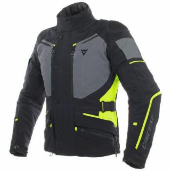 Dainese Carve Master 2 Goretex Black Ebony Fluorescent Yellow Riding Jacket