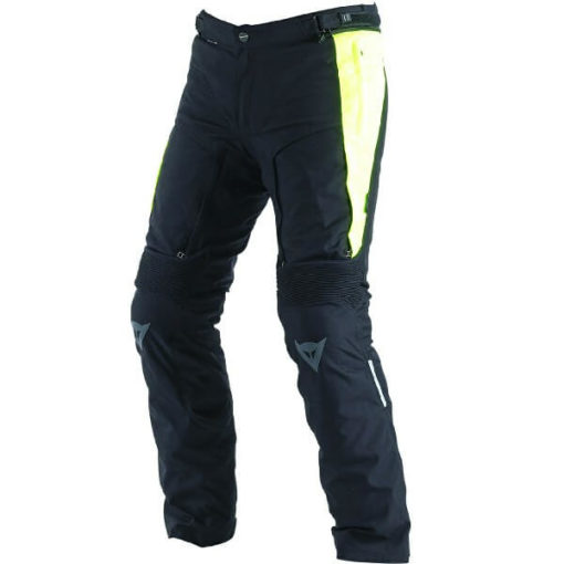 Dainese D Stormer D Dry Black Fluorescent Yellow Riding Pants