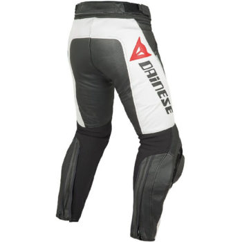 Dainese Delta Pro C2 Perforated Black White Leather Riding Pant 1