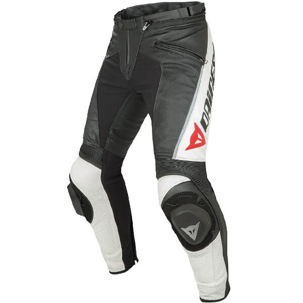 Dainese Delta Pro C2 Perforated Black White Leather Riding Pant