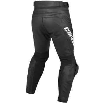 Dainese Delta Pro Evo C2 Perforated Black White Leather Riding Pant 1