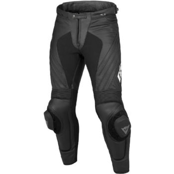 Dainese Delta Pro Evo C2 Perforated Black White Leather Riding Pant