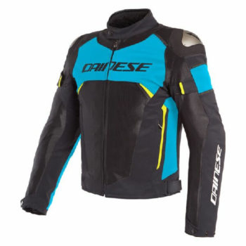Dainese Dinamica Air D Dry Black Blue Fluorescent Yellow Riding Jacket