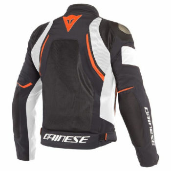 Dainese Dinamica Air D Dry Black White Fluorescent Red Riding Jacket 1