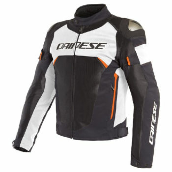 Dainese Dinamica Air D Dry Black White Fluorescent Red Riding Jacket