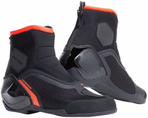 Dainese Dinamica D Waterproof Black Fluorescent Red Riding Shoes