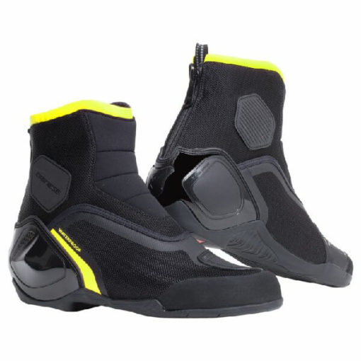 Dainese Dinamica D Waterproof Black Fluorescent Yellow Riding Shoes