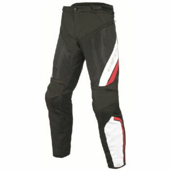 Dainese Drake Air D Dry Black White Red Riding Pants