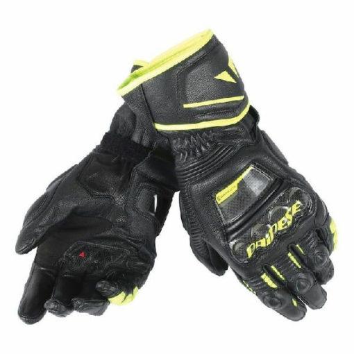 Dainese Druid D1 Long Black Fluorescent Yellow Riding Gloves